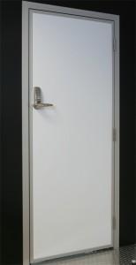 Personnel door with digital lock