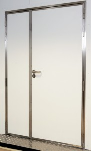 Stainless steel personnel doors (non combustible)