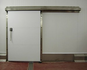 Wrap around stainless steel sliding door