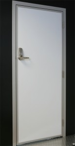 Personnel door with digital lock