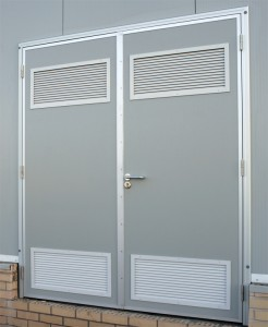 Personnel Door with Louvre Panels