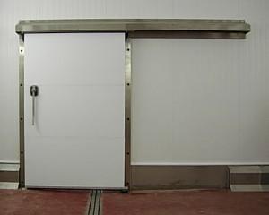 Wrap around stainless steel sliding door
