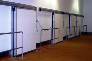 Bank of Heavy Duty Sliding Doors